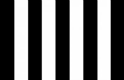 STRIPED BLACK & WHITE - 5 X 3 FLAG